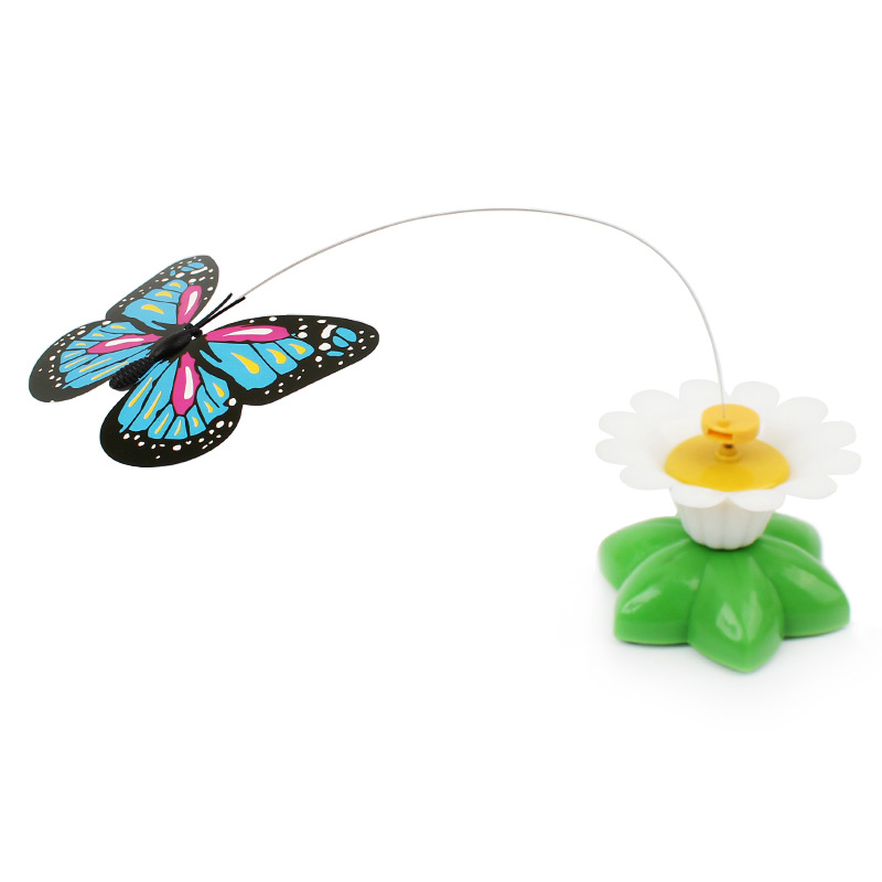 Electric pet toys plastic flying bird butterfly cat toy