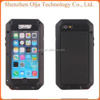 Metal Aluminum Shockproof Gorilla Glass For iphone 5c case waterproof, for iphone 5c waterproof case, for iphone 5c case
