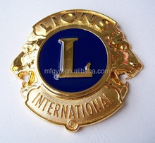 Wholesale lion club diamond front grille car emblems