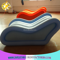 Promotional New Coming commerical office Inflatable Sofa,PVC blue Flocking Inflatable Sofa
