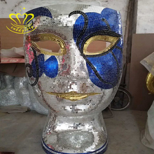 Hot sale New product Wholesale fiberglass human face mosaic Chair