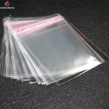 Professional supplier for super clear opp poly bag with resealable self adhesive flap