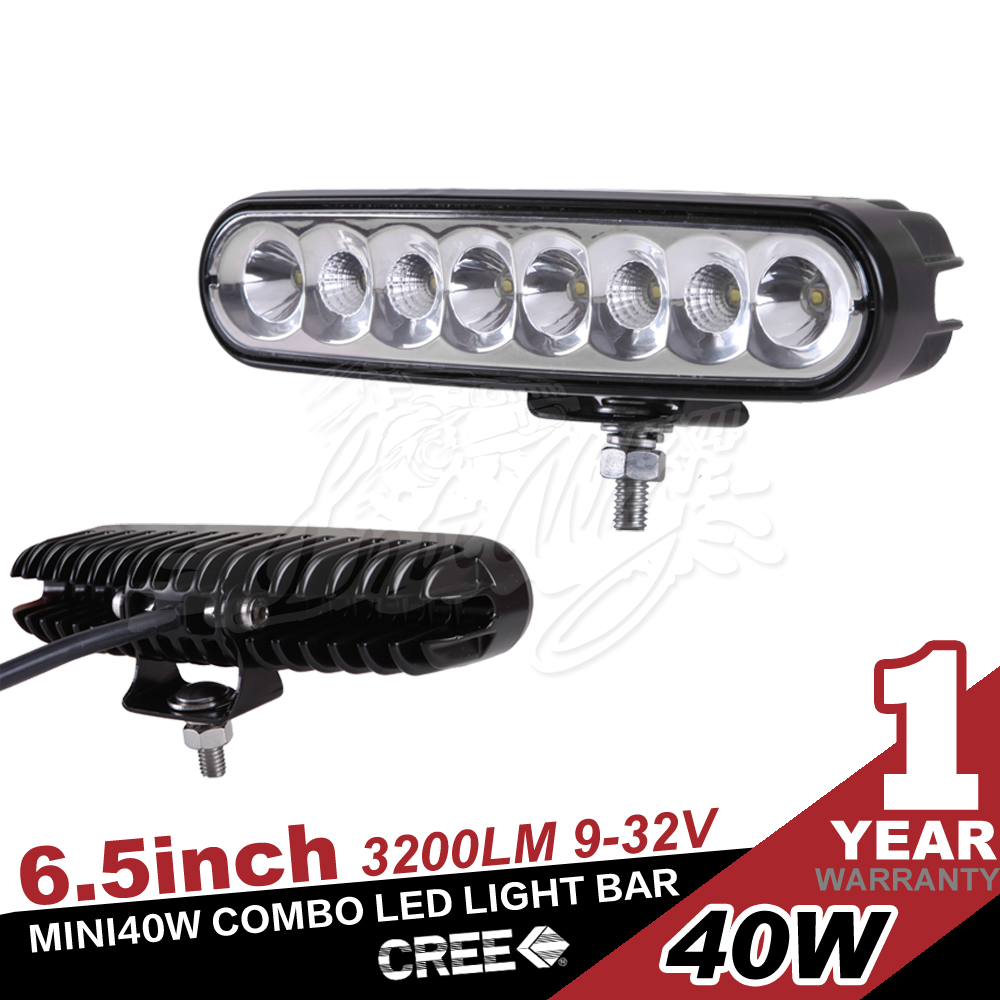 "7 Year Alibaba Supplier 6"" 40w Led Light Bar for Truck, Offroad,Tractor"