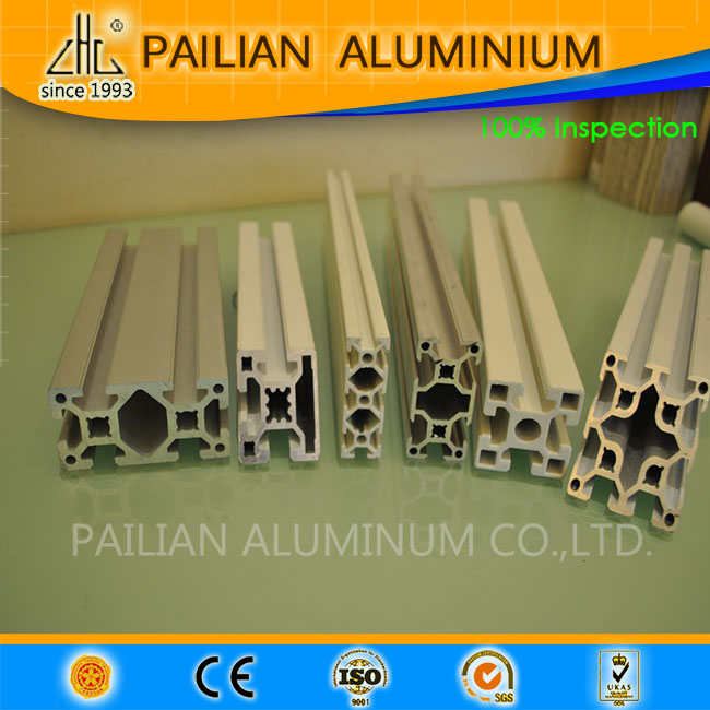 Industrial T slot aluminium extrusion , T slot aluminium profile with 20*10 / 30*120 / 30*60 / 45* 90 / 40*80 mm