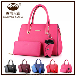 2016 hand bag western style popular classical lady hand bag 3pcs in 1 online shopping