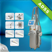 Ultrasonic Cavitation+Vacuum Suction+RF+Laser+Roller System Belly Fat Burning Device