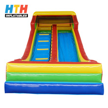 Strong Plato pvc two lanes inflatable slide gladiator slides for toddlers