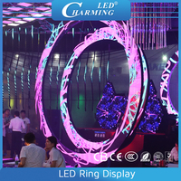 P5.57 indoor color changing flash effect led ring/jcircular/round display screen for night club/wedding stage decoration