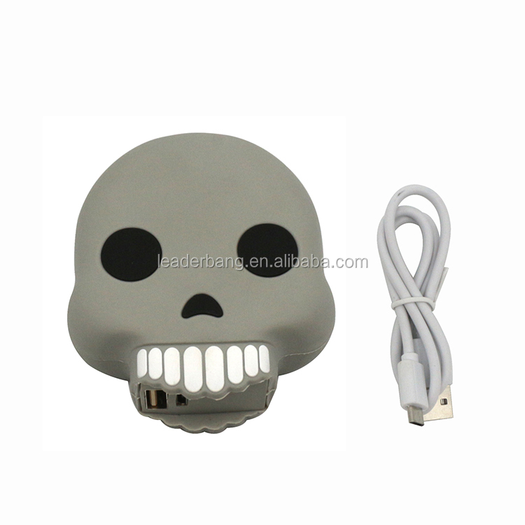 Newest design colorful specter hippo skull power bank 2600mah for cell phones smartphones