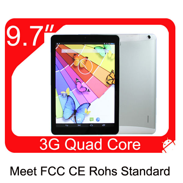 "9.7"" android tablet pc 3g sim card slot mtk8389 1G/8G WIFI GPS FM HDMI bluetooth"