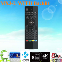 2017 Professional MX3-L 2.4g Air Mouse Backlit Somatosensory remote <strong>control</strong> made in China