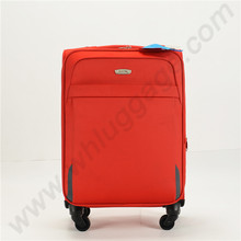 Fabric material soft suitcase, aluminum alloy trolley nylon luggage