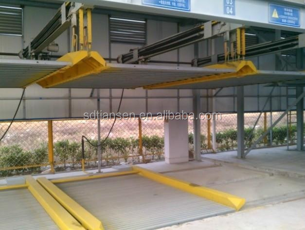 Lightweight car parking steel space frame roof system building in Saudi Arabia , saving hydraulic car parking lift