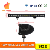 21600lm 28inch single row ce rohs waterproof car led light bar for jeep, trucks, suv, 4x4