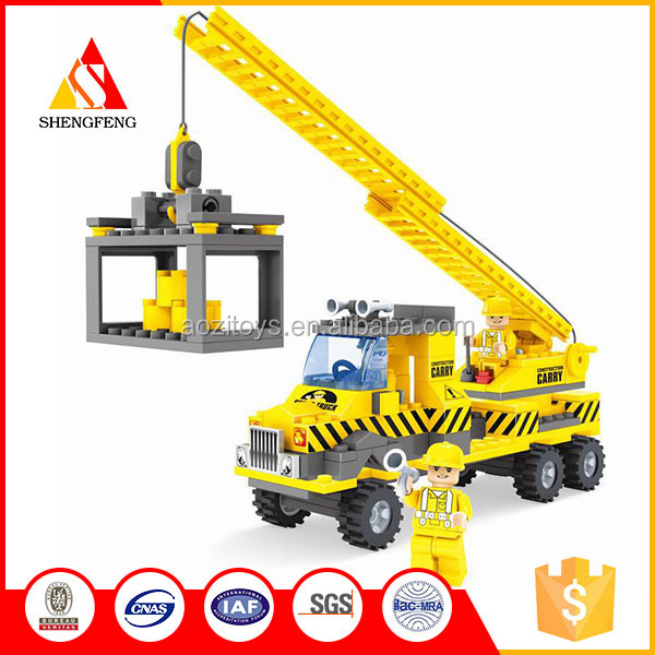 3d construction toys crane for transport vehicle