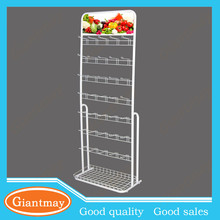 floor standing white cell phone accessory metal wire display rack