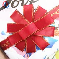 Wholesale 100% Polyester Red Satin Ribbon For Birthday Cakes