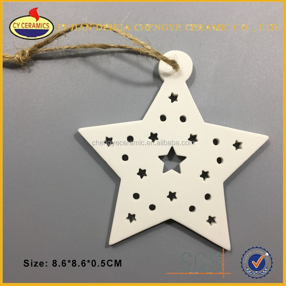 Top hanging various modeling blank star christmas ornament