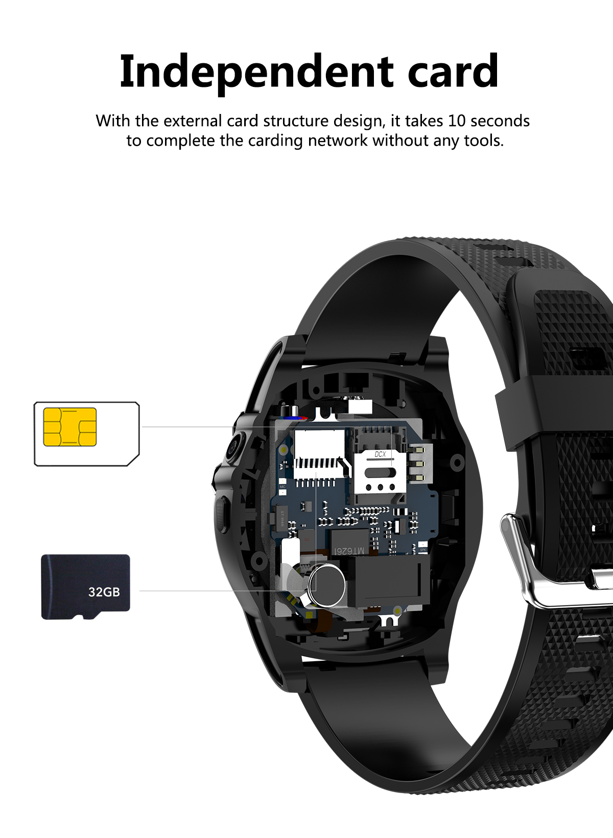 DT18 smart sport watch independent communication anti-lost phone with sedentary reminder
