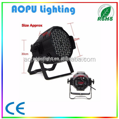 54pcs 3w/54x3w rgbw led light par 64 led lighting lamp