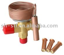 Exchangeable cages thermal expansion valve for R22 R134A R407A