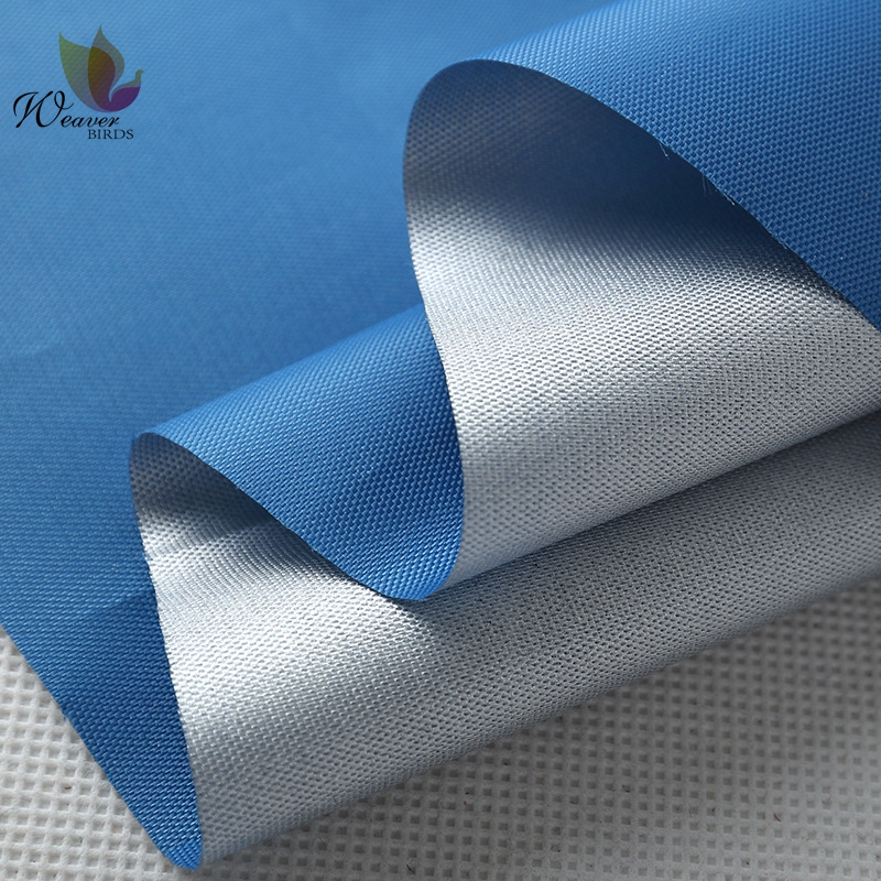 Wholesale Waterproof Shade Cloth 600D Silver Coated Oxford Fabric For Car Parking Cloth Polyester Bags and Lining Fabric