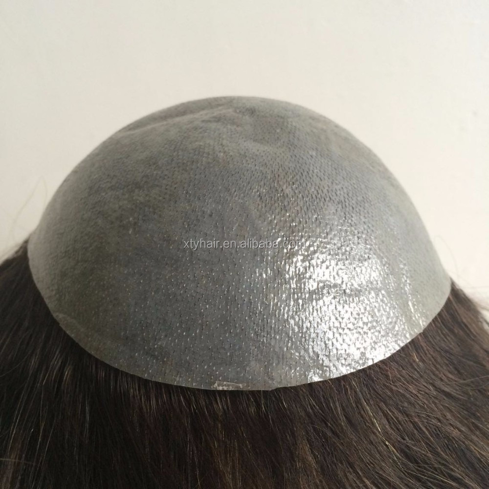 Alibaba China Top Wear Hair Toupee with ultra thin skin base made from 100% Indian Human Hair