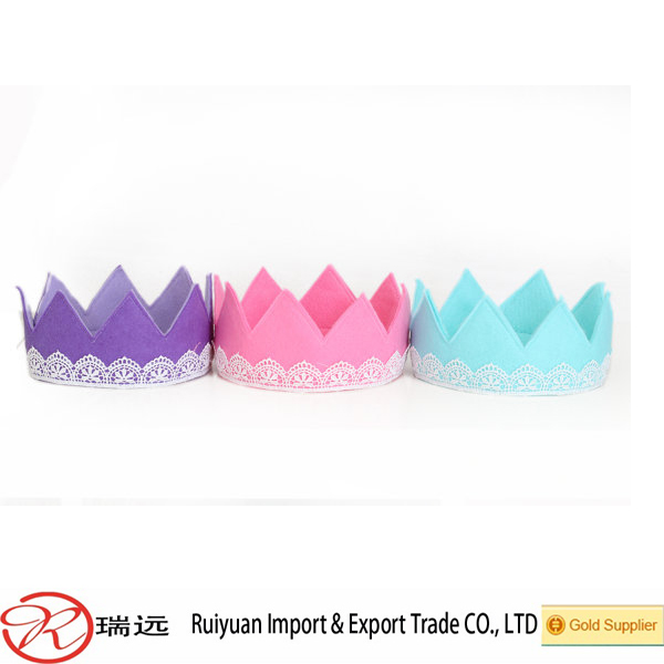 Best selling products felt crown for birthday party decoration