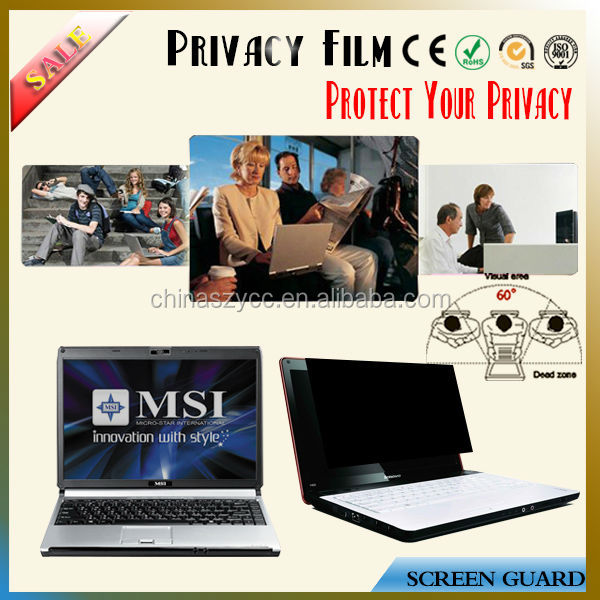 "Top Quality For Lcd/PC/Desktop/Laptop/Notebook Screen(8'-30"") 360 Degree Screen Privacy Protector"