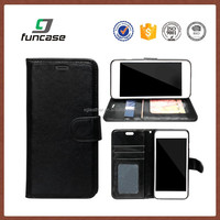 2016 custom universal pu leather case stand genuine leather phone case for iphone 7