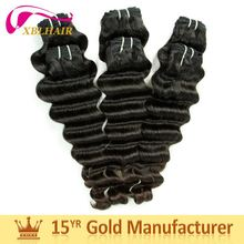 Shangdong factory XBL original human hair loose deep wave weave hair styles