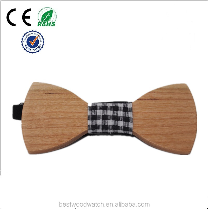 Top Selling High Quality Shirt Accessories For Men Wooden Bow Tie SL-WT-01-2