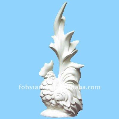Bizcocho de cer mica de lujo de gallo estatua cer mica y for Bizcochos de ceramica