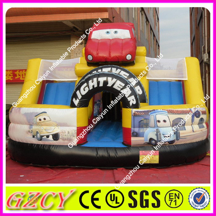 Kids Favourite Car Type Inflatable Bouncer Jumping House With Slide Combo
