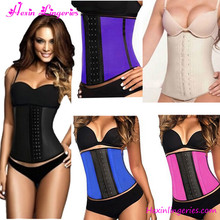 Wholesale 9 Boned Corset Waist Trainers Latex Colombian Waist Cincher