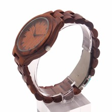 2017 new quartz mens watch japan movement wood smart watch wholesale