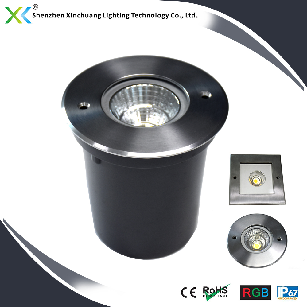 competitive price outdoor ip67 6W RGB 50000 hours aluminum COB ground led light