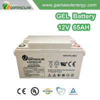 Off-grid solar home system gel/agm battery made in China