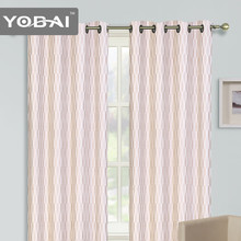 2014 popular stripe curtain 100% polyester fabrics curtains living room curtains