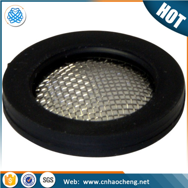 Factory price dia 0.5 inch stainless steel washer rubber hose filter