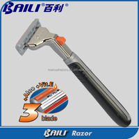 High quality Triple blade for comfortable system razor blade(Skype:gracelee_44)