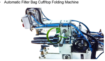automatic dust filter bag cuff folding machine