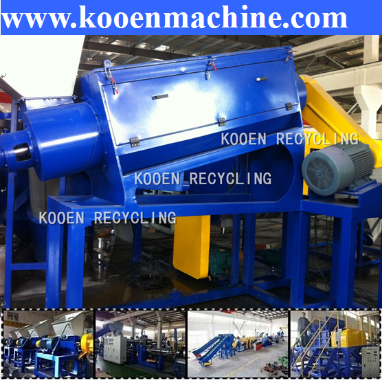waste plastic automatic pet crushing washing drying system