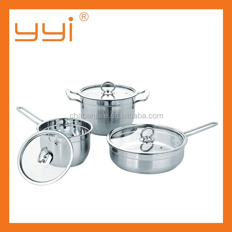 Cookware Set 3PCS Korean Style Stainless Steel Cookware Set
