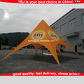 Orange color star shaped tent/large event tent/marquee tent