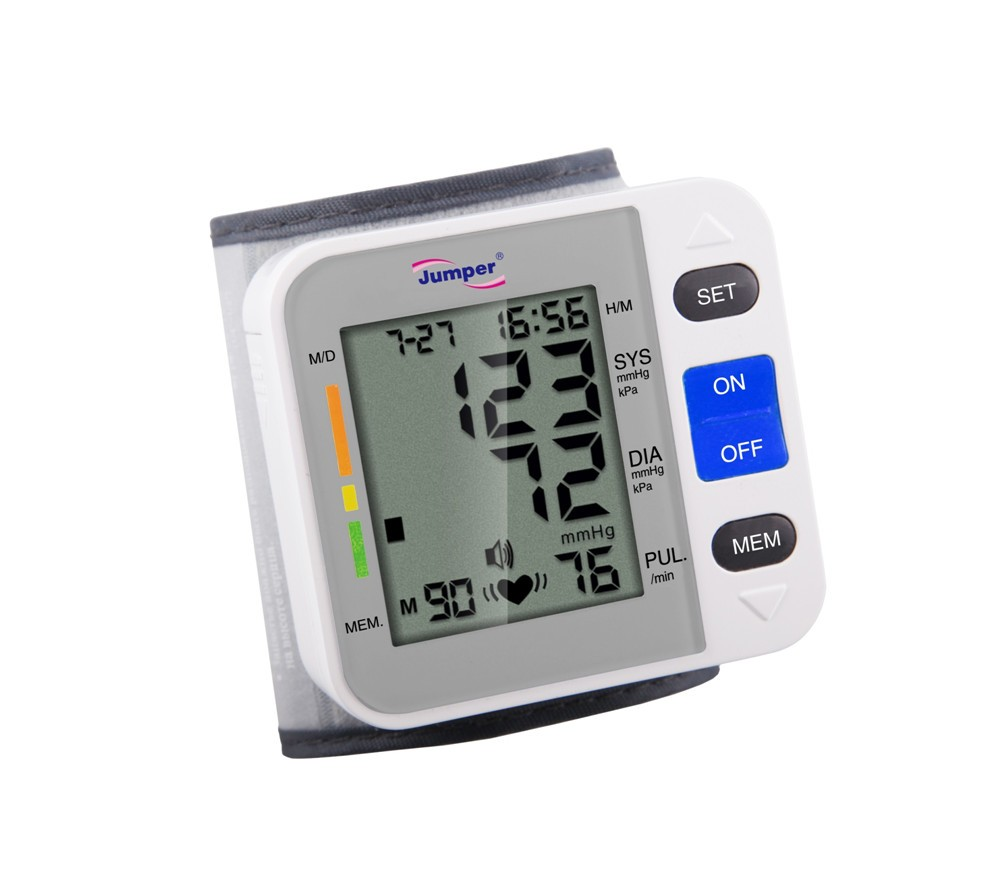 Wrist Cuff Automatic Blood Pressure Monitor Arm Meter Pulse Heart Beat Meter LCD disply price of digital sphygmomanometer