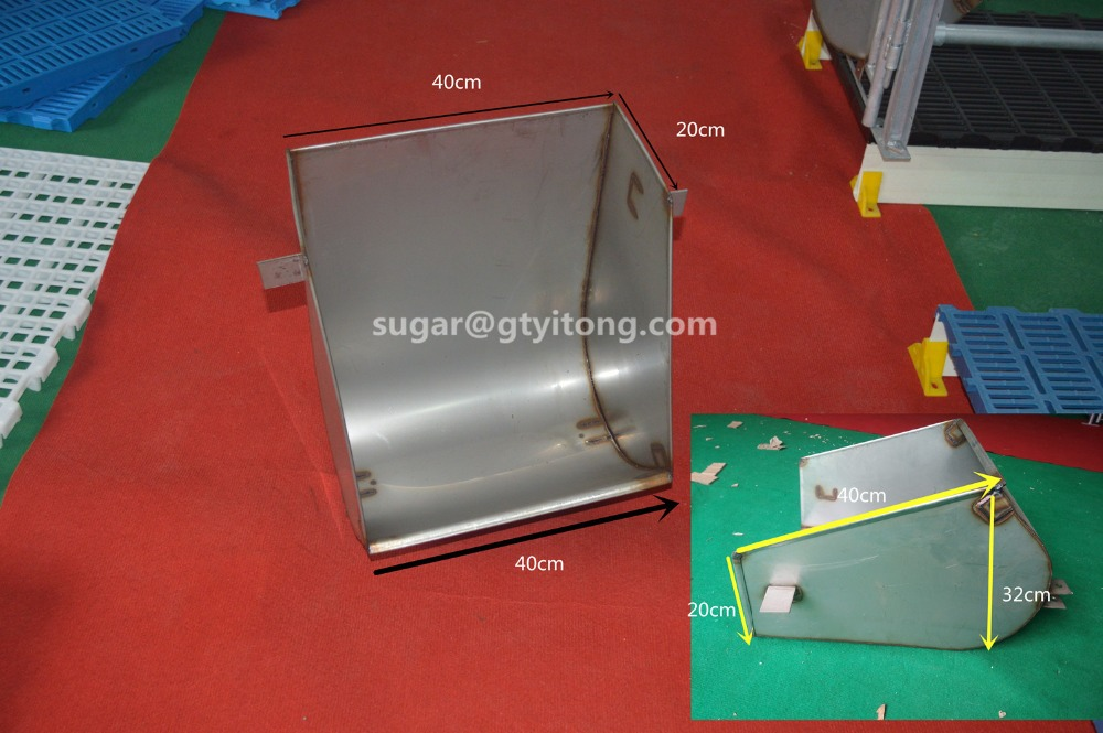 Farrow crate sow pig feeders for automatic pig feeding system