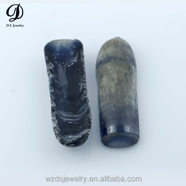 Wuzhou manufacture corundum gemstone synthetic blue sapphire corundum