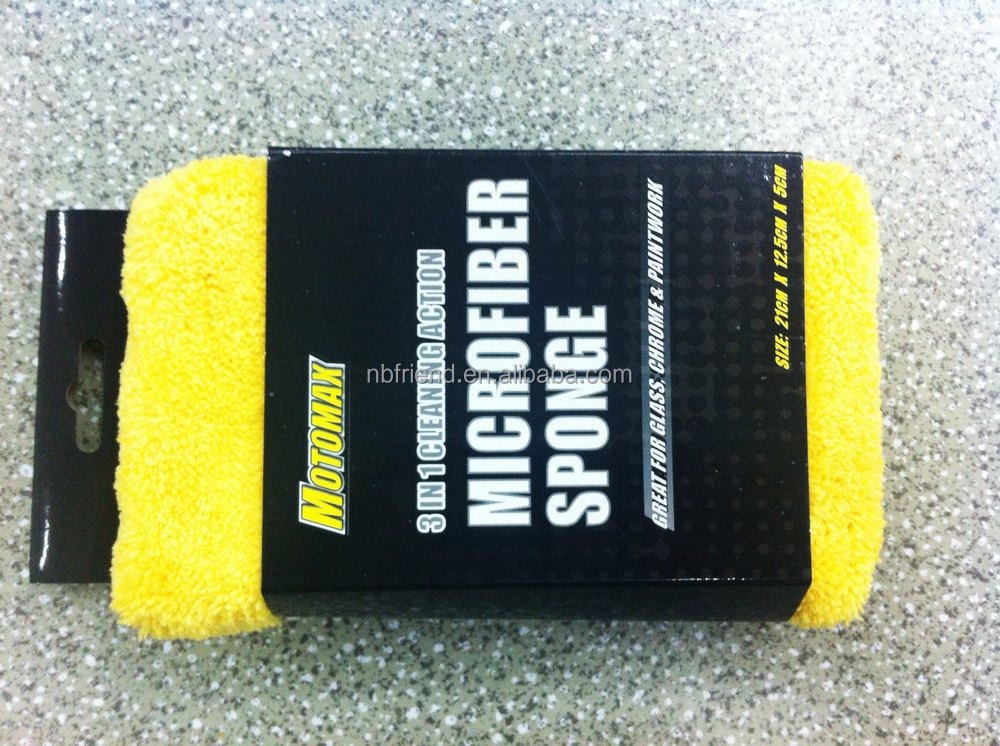 AUTO car Cleaning Microfiber sponge