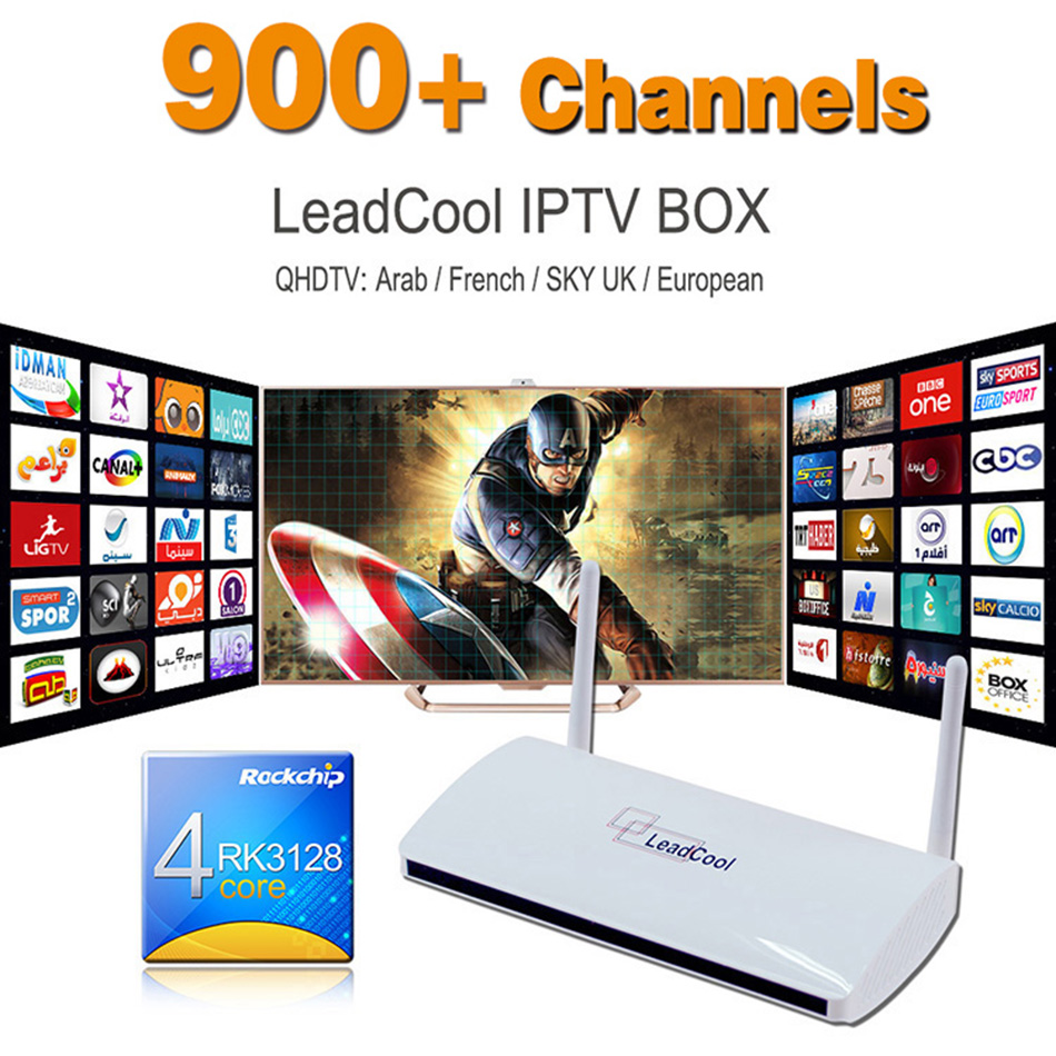 Android 4.4 Smart TV Box with Free QHDTV IPTV Account 1 Year Arabic IPTV